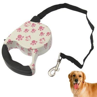 Einziehbare Hundeleine für kleine bis mittelgroße Hunde, in Pink Rosa Design, Länge 5 (Einziehbare Zähne)