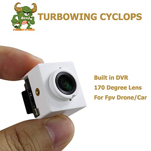 TURBOWING FPV DVR Kamera Cyclops3 v3 720P HD Kamera Micro Video Audio Recorder 175 Grad Ntsc FPV DVR Kamera für FPV Racing Drohne Multicopter Quadcopter Grade Audio