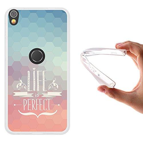 WoowCase Alcatel Shine Lite Hülle, Handyhülle Silikon für [ Alcatel Shine Lite ] Satz - Life is Perfect Handytasche Handy Cover Case Schutzhülle Flexible TPU - Transparent