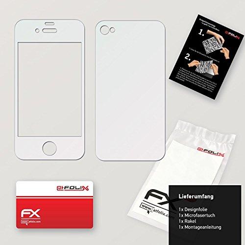 "Skin Apple iPhone 4 / 4s ""FX-Carbon-Black"" Sticker Autocollant FX-Gloss-Diamond-Pink"