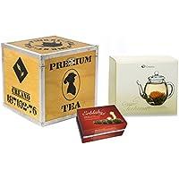 """Creano –Set regalo di tè di fiori in una scatola di legno con 6 tipi diversi di """"Fior di Tè"""" (tè bianco)"""