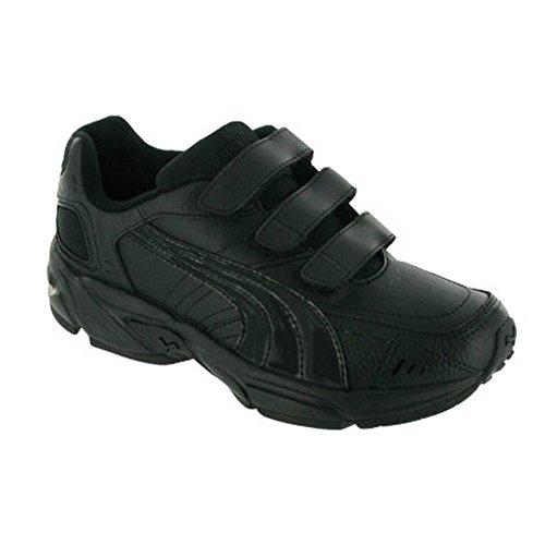 Liquidation chaussures de sport unisexe Puma Axis Junior avec Velcro pour enfant Noir