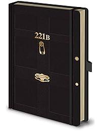 Sherlock Notebook 221B logo nouveau officiel premium A5 Noir