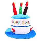 She's Shining adultos Pastel de cumplea os Fiesta de disfraces Sombrero divertido con velas en la parte superior Azul