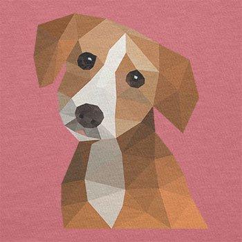 Texlab–Poligono cane–Sacchetto di stoffa Pink