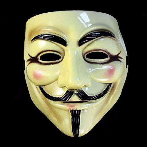 YWLINK V FüR Vendetta Maskerade Halloween Maskerade Gesichtsmaske KostüM Herren Damen Party Mask