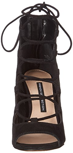 French Connection Narina Femmes Cuir Talons Black