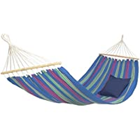 AMAZONAS Hängematte Aruba Juniper wetterfest und UV-beständig 210 x 120cm bis 180kg blaugestreift