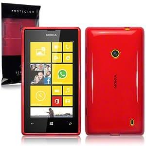 """Étui """"Terrapin"""" en Gel TPU pour Nokia Lumia 520 - Rouge"""