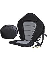 asiento kayak, asiento rigido para kayak con almohadilla antideslizante ajustable del EVA y bolso de almacenaje desmontable