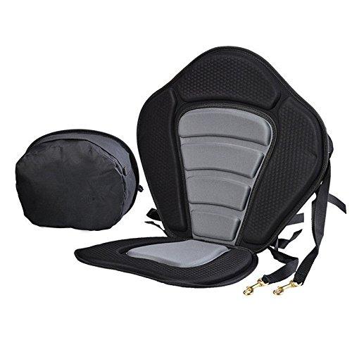 Siège Kayak, siège canoë avec anti-slip réglable EVA Pad et Sac stockage détachable