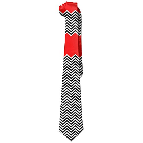 Unusual Red White And Black Chevron Zig Zag Necktie Skinny Ties