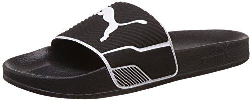 Puma leadcat ts, scarpe da spiaggia e piscina unisex – adulto, nero (black-white 04), 38 eu