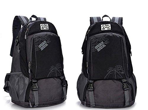 ROBAG 45L neue wasserdichte atmungsaktive Outdoor-Klettern Tasche Umhängetaschen für Männer und Frauen, Freizeit Reisetaschen black