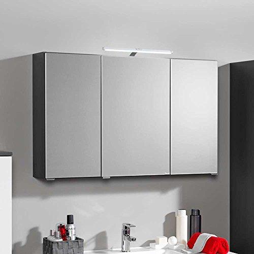 Bad Spiegelschrank mit 3D Effekt - Anthrazit 90 cm