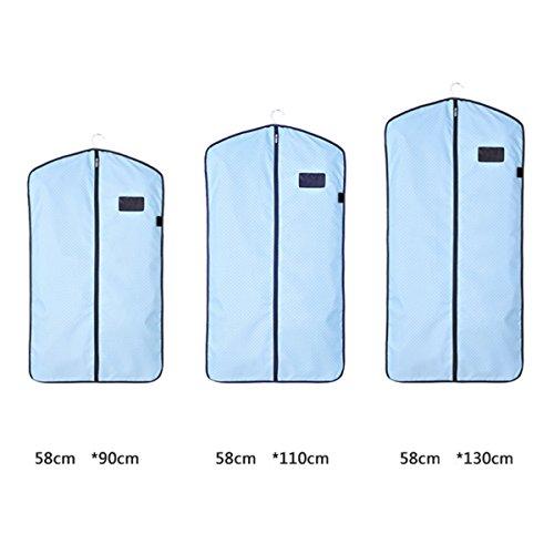 """Reißverschluss Anzug Mantel Kleider Kleider Aufbewahrungsschutz Abdeckungen Taschen mit klarem Fenster 43 """"Länge, Blau blau"""