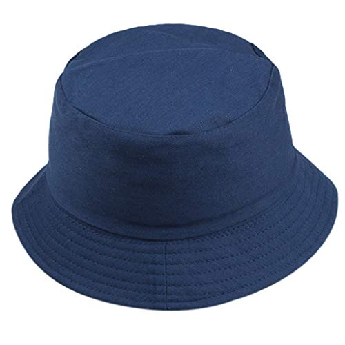 Bokeley Fashion Unisex Packable Reversible Fisherman Hat Cap Bucket Sun Hat Hat Hat Hat Hat Hat Hat Sommer Cap Hut, Wandern, Strand, Sport Free Navy -