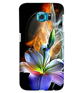 ColourCraft Beautiful Flower Design Back Case Cover for SAMSUNG GALAXY S6 EDGE G925