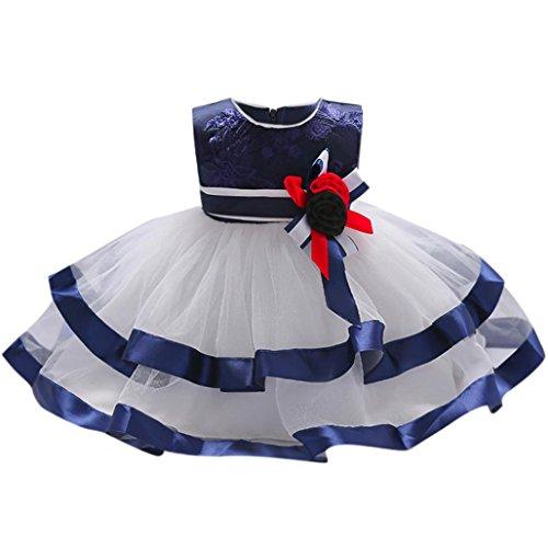 Kinder Kleider Festliche Kleider für mädchen Longra Kinderkleidung Mädchen Spitze Blumenkleid...