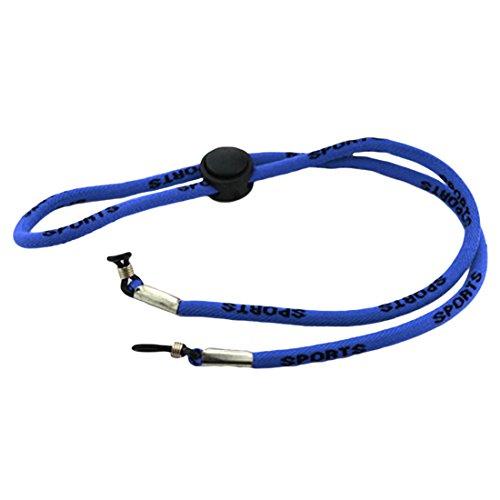 NoyoKere Mode verstellbare Sonnenbrille Lanyards Hals Cord Strap Brille String Langen Riemen Seil Lanyard Halter Zubehör 60cm blau