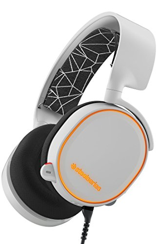 SteelSeries Arctis 5, Casque Gaming, Illumination RGB, DTS 7.1 Surround pour PC, PC / Mac / PlayStation 4 / Android / iOS / VR - Blanc