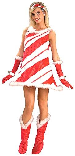 Forum Neuheiten 140499 Fr-ulein Candy Cane Kost-m - Rot - Standard-Gr-e (Candy Cane Kostüm Für Erwachsene)
