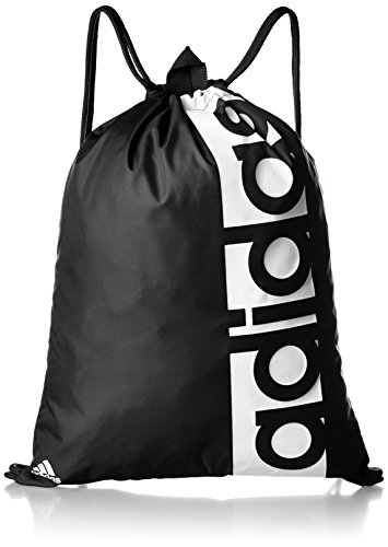 adidas Lin Per Gb, Bolsa de Gimnasio Unisex Adulto, Negro (Negro/Negro/Blanco), Talla única (37 x 47 cm)