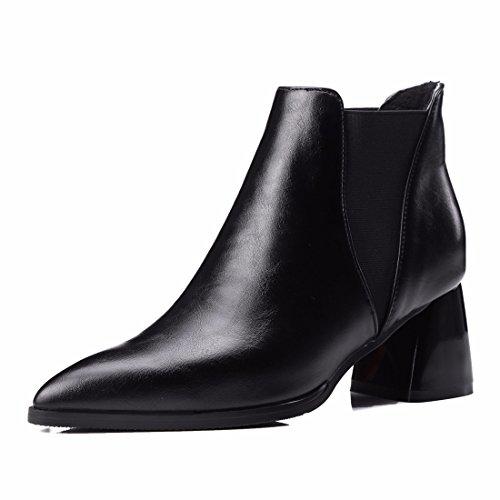 Paint Bottine high heels code Black (Terry)
