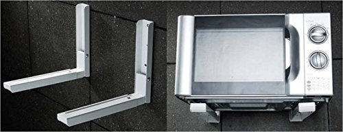 XTREMEPOWER Universal Microwave Oven Wall Mount Stand with Length Adjustment Mechanism (White and Black)