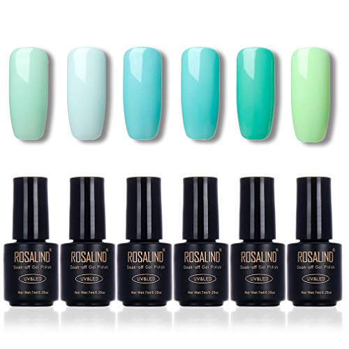 ROSALIND Esmalte uñas Color verde Serie Vernis Semi-permanente