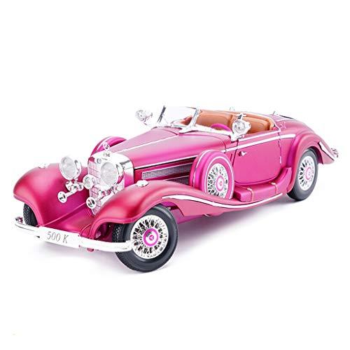 YAXIAO Auto Modell Auto 1:18 Mercedes Benz 500 Karat Retro Simulation Legierung druckguss Spielzeug Ornamente Sportwagen Sammlung schmuck 29x10,5x7 cm