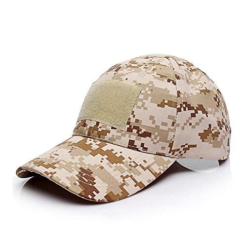 DAGUAISHOU Outdoor Militärische Taktische Tarnung Cap Magic Aufkleber Hut Outdoor Jagd Sport Cap Armee Camo Baseball Angeln Caps (Color : Desert digital, Size : One Size) (Armee-digital-hut)