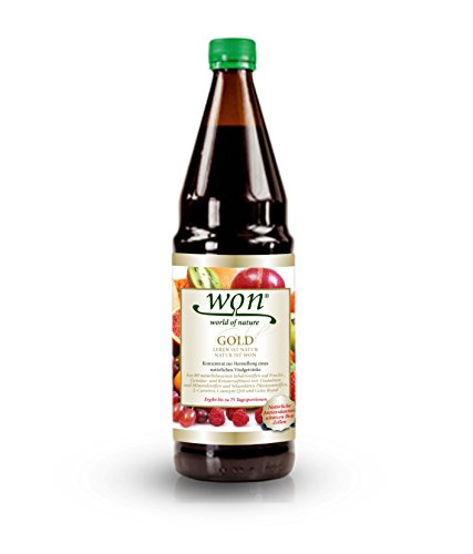 WON GOLD - Vitalstoffkonzentrat mit über 80 Inhaltsstoffen (Inhalt: 0.75 Liter) -