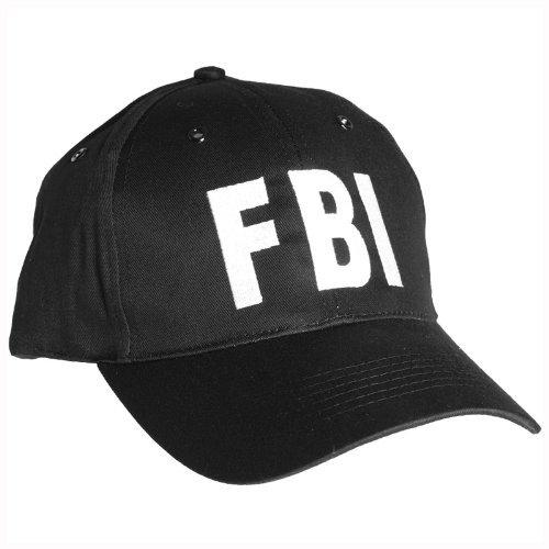 Mil-Tec FBI Baseball Cap mit Kunststoff Band Schwarz