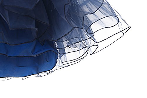 Dresstells 1950 Petticoat Reifrock Unterrock Petticoat Underskirt Crinoline für Rockabilly Kleid Navy M - 6