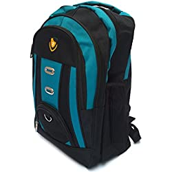 Vintage Stylish Unisex Casual, College Backpack-Sky Blue And Black(Bag 180249)