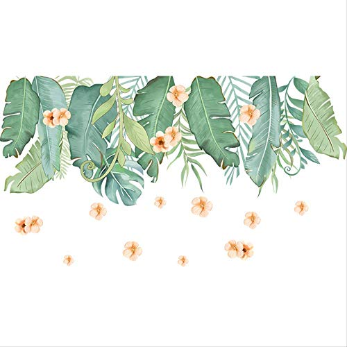 Ceiling Sticker Rental Oracle Rental House Renovation Ins Wind Decoration Self-Adhesive Wall Paste Literature And Art Fresh Banana Leaf 60 * 110Cm Banana Leaf House