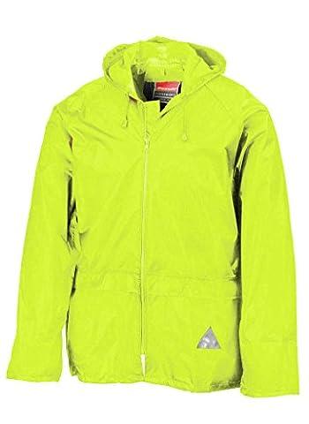 RT95 Jacke und Hose Set Regenanzug wasserdicht XL,Neon Yellow