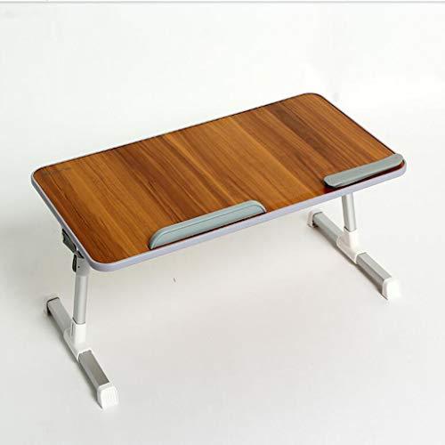 NYDZ Schreibtisch, klappbarer 36-Grad-Drehtisch, Lazy Table, Lerncomputertisch 60x33 (Farbe : Pear Wood)