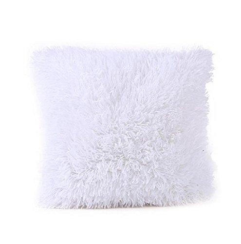 Rosennie Kissenbezug Sofa Werfen Kissen Abdeckung Plüsch 18 * 18 Zoll (Weiß)