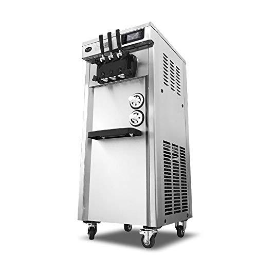 Xb Kommerzielle Eismaschine, Softeistüte-Digitalanzeigemaschine mit 3 Geschmacksrichtungen Desktop Automatic Drum 2500W (220 V) (Maker Machine 220v Ice)
