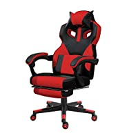 Mahmayi High Back Black & Red Video Gaming Chair with PU Leatherette