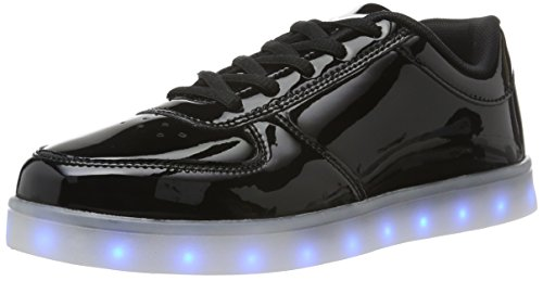 wize & ope LED-Pop, Scarpe da Ginnastica Unisex - Adulto Nero (Schwarz (Black 2))