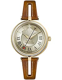 Vivienne Westwood Womens Analogue Classic Quartz Watch with Leather Strap VV168GYTN
