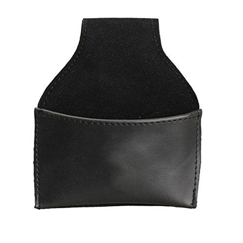 runakan schwarz Kunstleder Kreidehalter aus Leder mit Clip Pool Billard Snooker