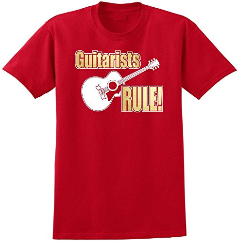 Acoustic Guitar Rule - Red Rot T Shirt Größe 87cm 36in Small MusicaliTee - Gitarre Acoustic Electric Epiphone