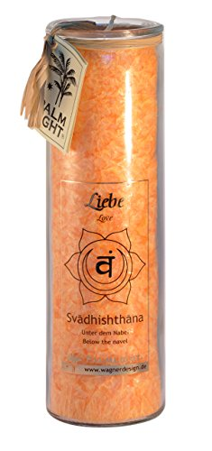 Palm Light 4041678000806 Chakra Kerze, Swadhishthana-Chakra, orange (Orange Light)