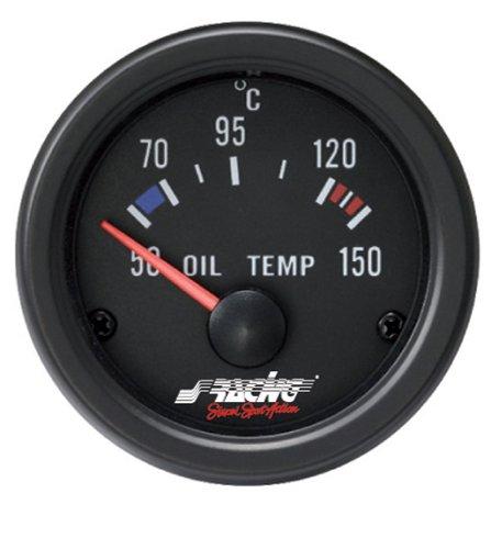 Simoni Racing OT/B Indicatore Temperatura Olio, Nero