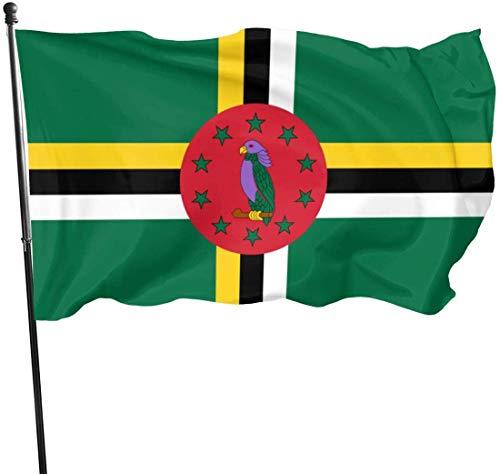 [ONE Pail] Garten Flaggen 3x5 Feet Flag of Dominica - Vivid Color and UV Fade Resistant - Garden Flags -