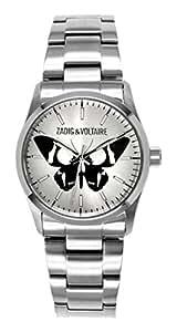 Zadig & Voltaire - ZV 002/FM - Rock - Montre Femme - Quartz Analogique - Cadran Argent - Bracelet Acier Argent